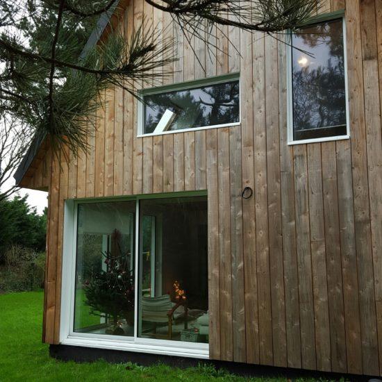 Extension d'une villa en bois