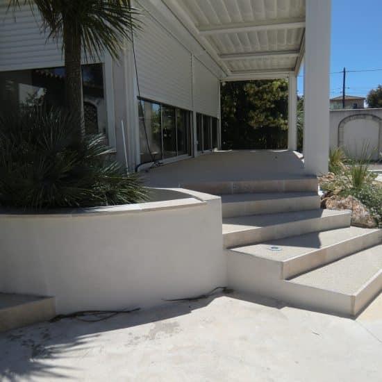 Création terrasses, escaliers, pergola, extension