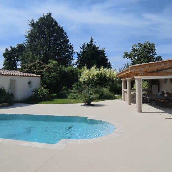 Pool house et aménagementterrasse