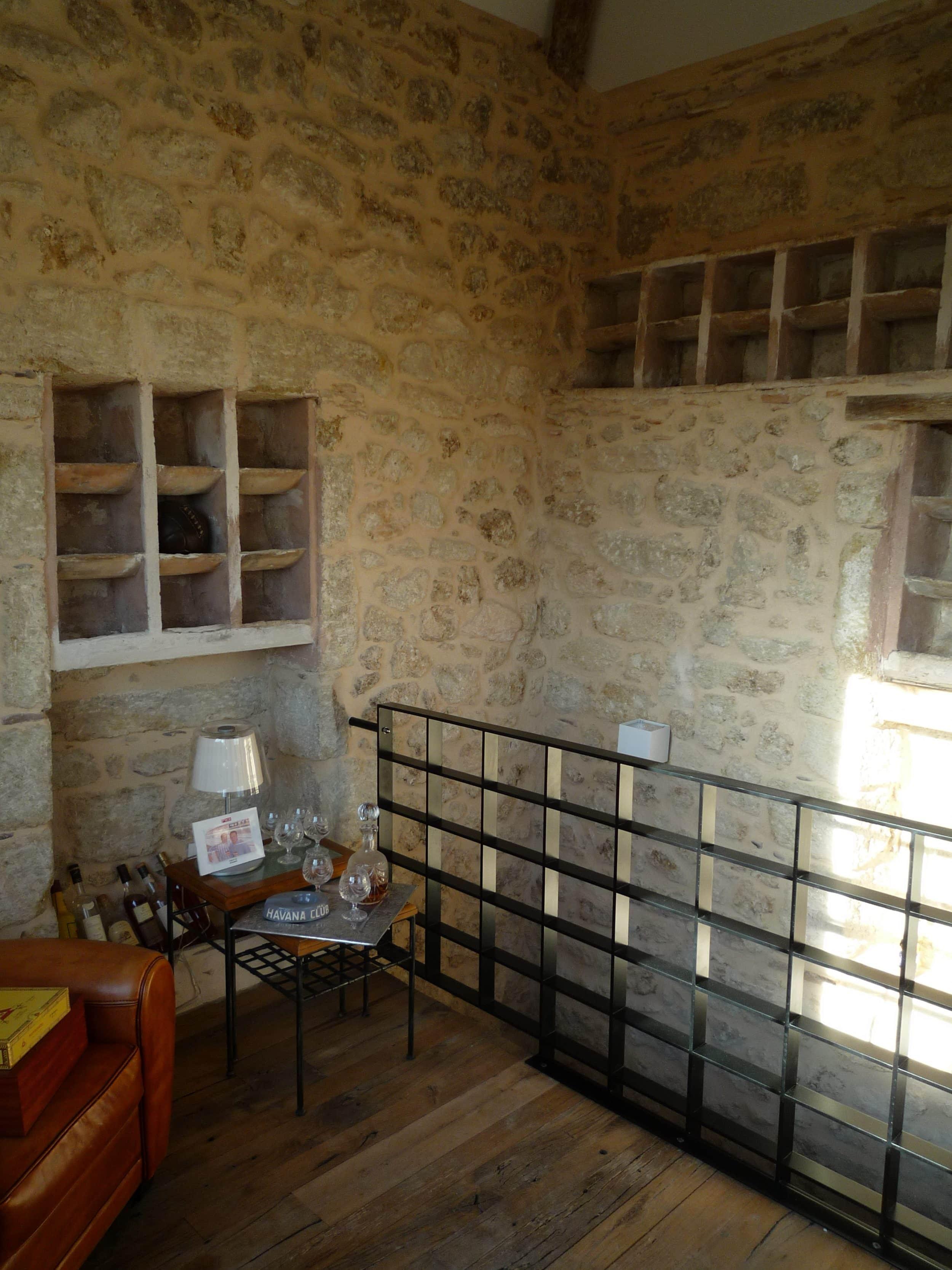 Garde corps et escalier, métal et bois, rénovation Mas