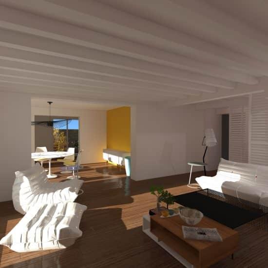Simulation d'aménagement intérieur en 3D