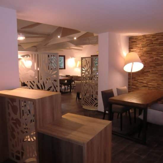 Aménagement intérieur d'un restaurant